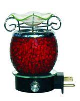 Electric Red Tart Warmer Burner Wall Plugin Mosaic Lamp Nightlight Fragrance Oil