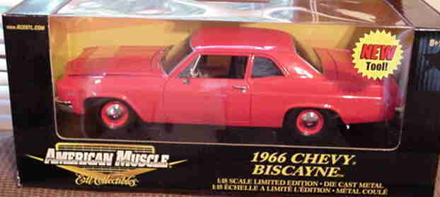 1966 Chevy Biscayne rot 1 18 Ertl American Muscle 33418