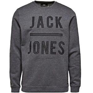 Logo Frappé Jones Gris shirt Sweat Jack Hommes Style Foncé Mode amp; AqwxFU