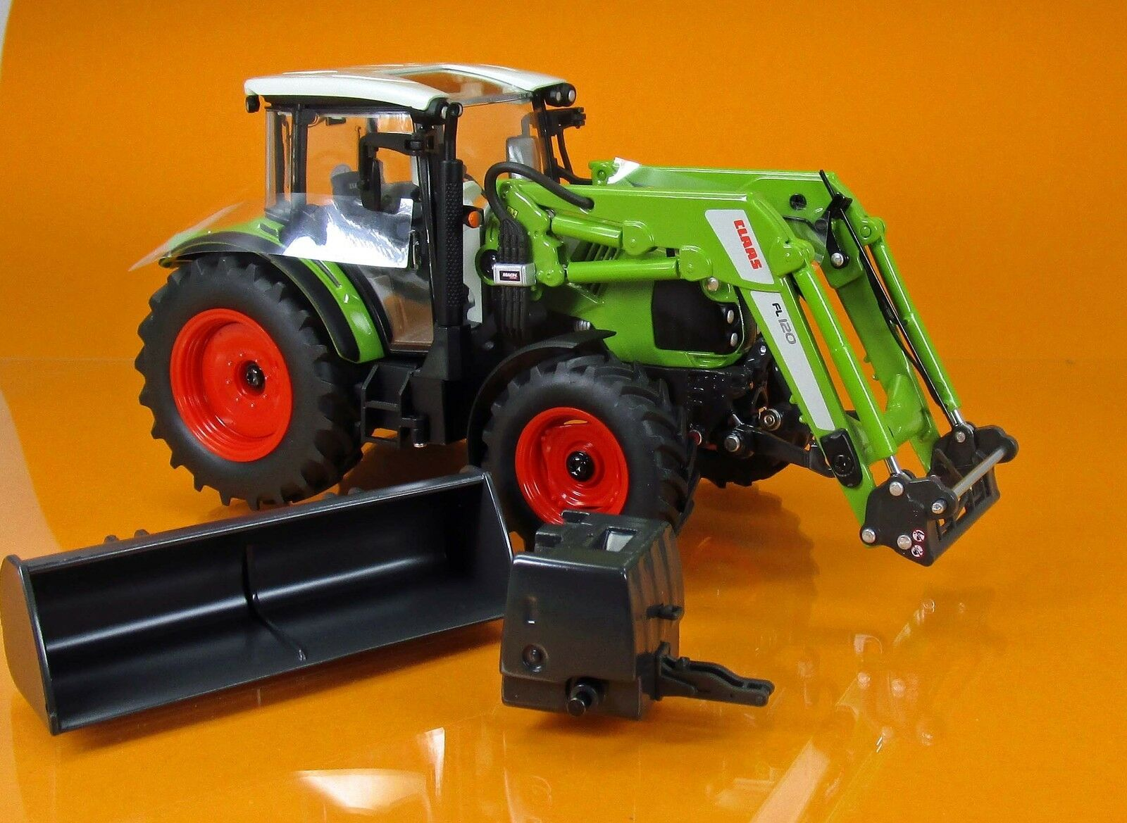 Wiking 077829 Claas Arion 430 con Front caricatrici 120 scale 1 32 NUOVO OVP