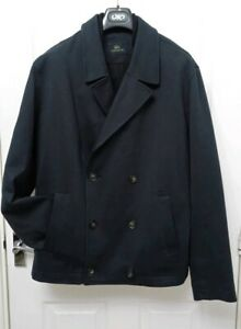 aa5b847c8c Details about LACOSTE Men's Navy Double Breasted Cotton Blend Coat Jacket  Size 7 XL