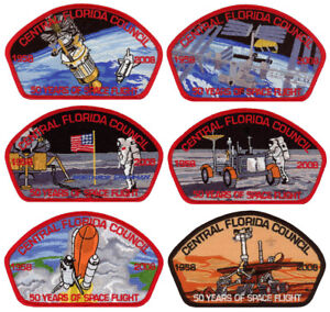 Central-Florida-Council-50-Years-of-Space-Flight-CSP-Uniform-Patch-Badge-Set-Lot