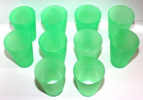 20 Mehrweg-Trinkbecher Grün 0,4 Liter Kunststoff Kunststoffbecher Partybecher