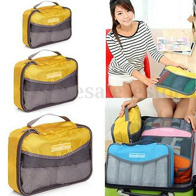 Portable Nylon Travel Luggage Bag Underwear Organizer HandBag Storage Zipper