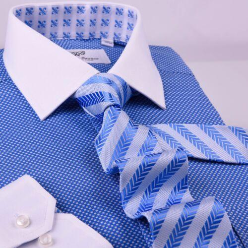 "Light Blue Herringbone Formal Business Striped 3/"" Tie Mens Professional Fashion"