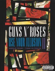 GUNS N' ROSES - USE YOUR ILLUSION II DVD ~ PAL ALL REGION ~ SLASH TWO 2 *NEW*