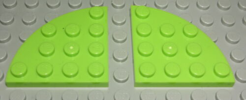 Lego Platte Ecke rund 4x4 lime Hellgrün 2 Stück 2003
