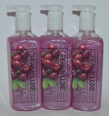 Health & Beauty Other Bath & Body Supplies Hearty Lot Of 3 Baño & Cuerpo Work Cereza Negra Merlot En Crema Luxe Jabón De Manos At All Costs