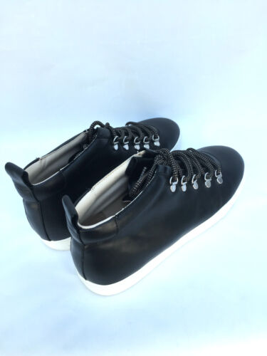 Uk5 Sneakers Trainers High Womens Size Leather Top Zara Uk7 Black 18OYXU