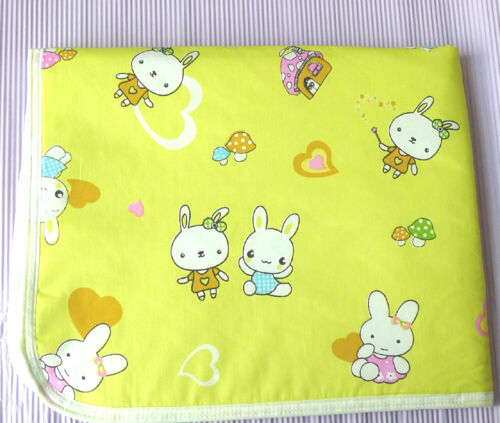 Baby Infant Cotton Waterproof Urine Mat Cover Burp Changing Pad Reusable Random