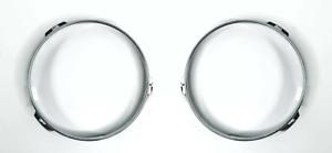 Pair Steel Headlight Retaining Rings For 1947-1957 Ford Cars /& Pickup Trucks