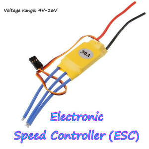 Details about 6-12V 30A ESC BEC Brushless Motor Electronic Speed Controller  For RC Quality Top