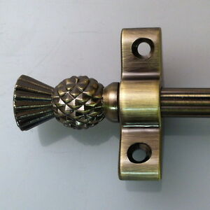 Antique Br Thistle Finial Stair Rods