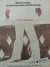 PUBLICITE ERAM CHAUSSURES BOTTES BLANCHE SKI NEIGE DE 1980 FRENCH AD PUB VINTAGE