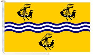 Äußere Hebrides NA h-eileanan Siar Seil & Knebelknopf 5' x 3' innen Boot Flagge