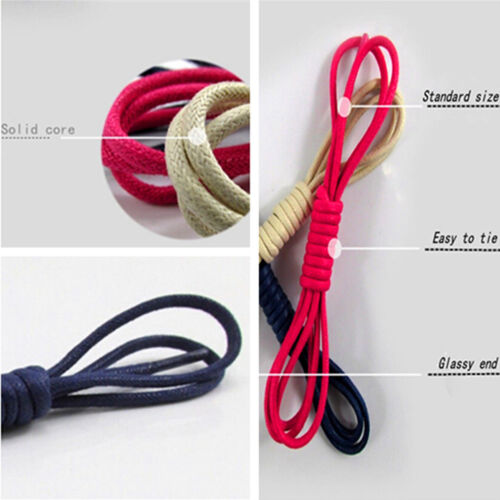 Men Wemen Thin Wax Shoe Laces Shoelace Waxed String for Leather Boot Brogues WD