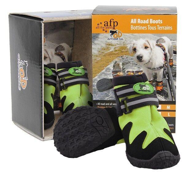 All For Paws Pfotenschuhe für Hunde 4erSet grau-neongelb Ballenschutz Hundeschuh   | Großer Verkauf