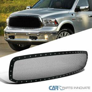 13-18-Dodge-Ram-1500-Pickup-Main-Upper-Mesh-Rivet-Black-S-S-Grille-Grill-Insert