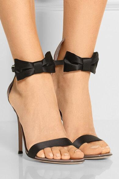 Womens Ladies Fashion Satin Bowtie Ankle Strap Stiletto High Heel Sandals shoes