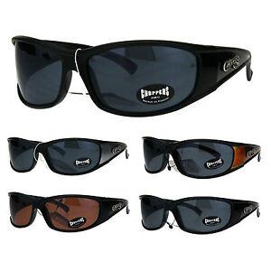 854d97c56a Image is loading Choppers-Mens-Rectangular-Gangster-Warp-Biker-Plastic- Sunglasses