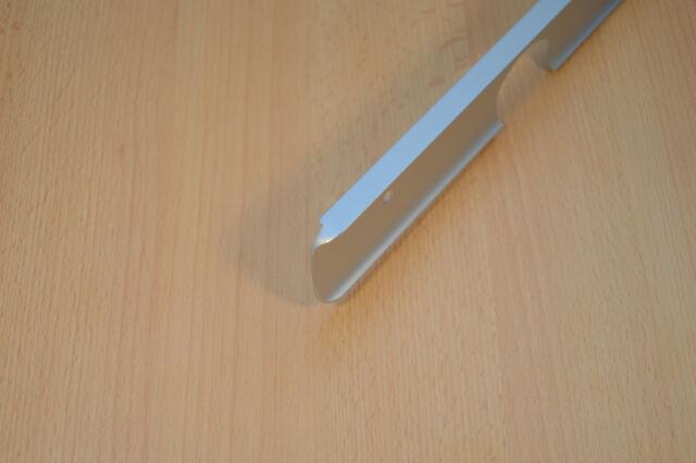Abschlussleiste Winkelleisten SEITELEISTE Arbeitsplatte Alu Küche Eckleiste  38mm