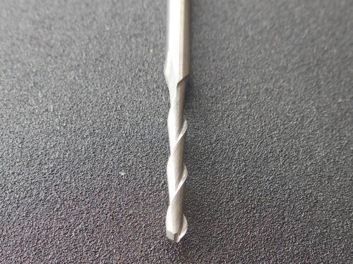 """2pcs 3.175mm 1//8/"""" Shank 2 Flute Ball nose End Mill Cutter CNC Bit 1mm-2mm"""