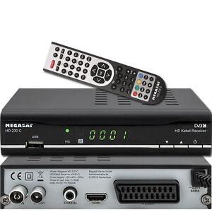 megasat hd 230c hdtv kabel receiver cable dvb c usb 2 0 hdmi ebay. Black Bedroom Furniture Sets. Home Design Ideas
