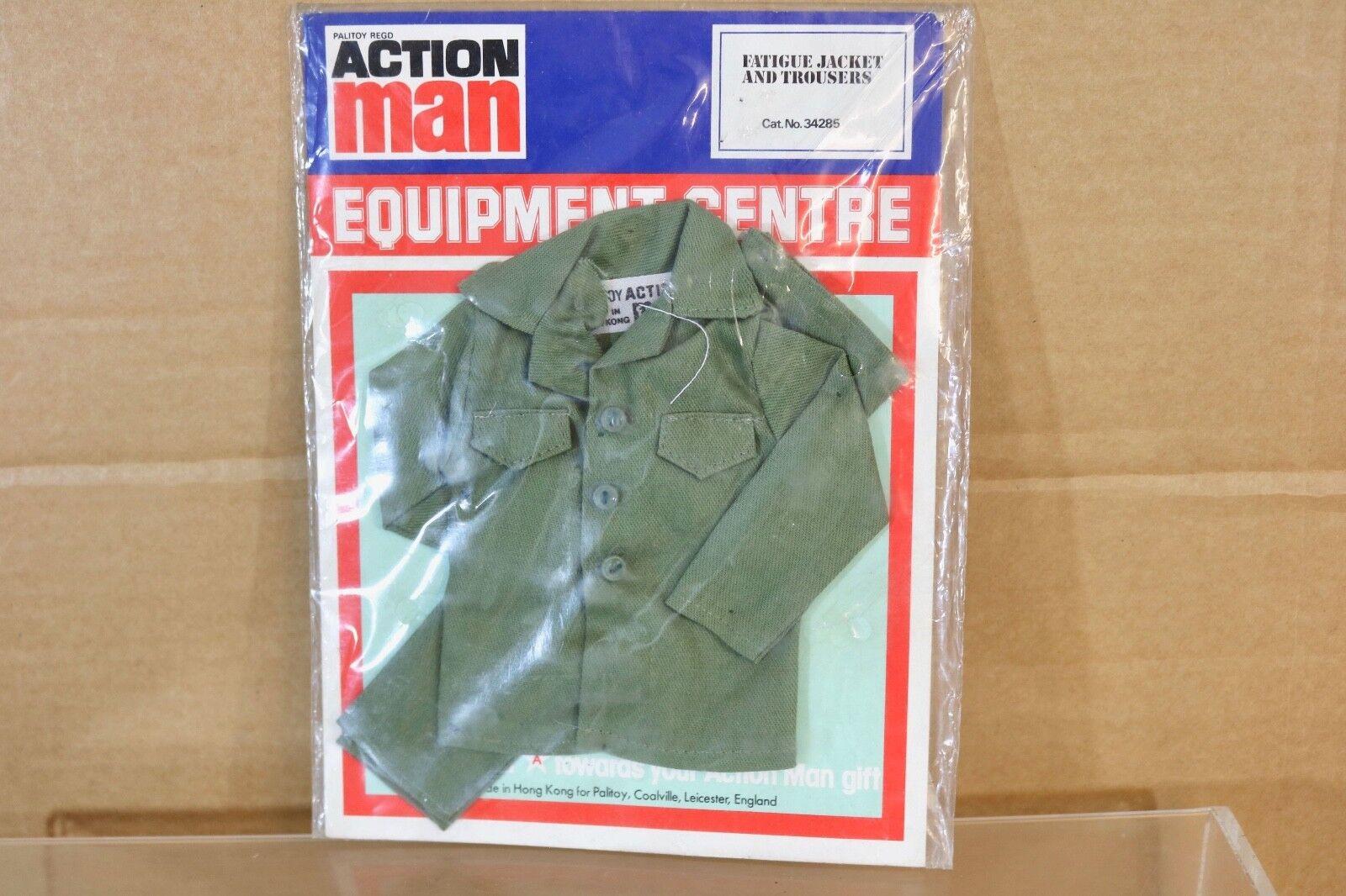 Hombre de Acción Palitoy 34285 Fatiga Chaqueta y Pantalones Cardado Set Early