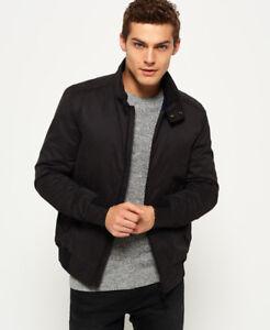 New Mens Superdry Nordic Harrington Jacket Black