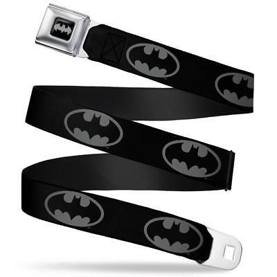 Batman Gürtel Usa Seatbelt Style Edelstahl Original Dc Comics Grau No Shirt