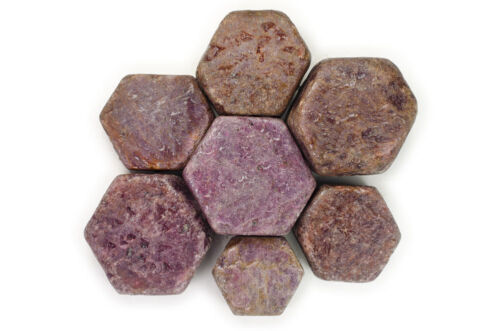 Specimen Cabbing Rocks 1 lb Wholesale Natural Red Ruby Rough Hexigonal Stones