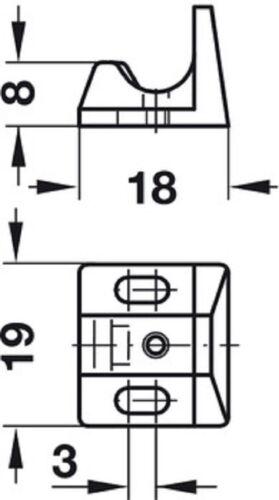 Häfele Federschnapp-Verschluss QUICK Druckverschluß Federschnapper Türschnapper