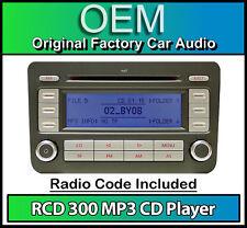 VW RCD 300 MP3 CD player radio, Passat car stereo head unit with radio code