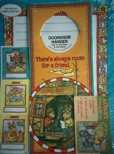 SEALED-Vintage-1990s-Marc-Brown-ARTHUR-LOT-Stickers-White-Board-Knob-Hanger