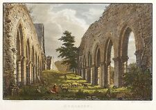 MEMLEBEN - KLOSTERKIRCHE - Bechstein - kolorierter Stahlstich 1838