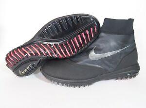 huge selection of 040d9 3766f Image is loading Nike-Lunar-Vaporstorm-Waterproof-Black-Golf-Shoes-918622-