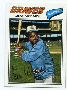 1977-Topps-JIM-WYNN-Baseball-Card-165-Atlanta-Braves-2001-Archives-REPRINT