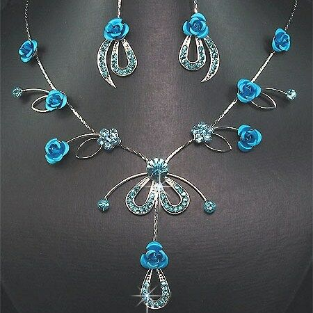 Fabulous** Crystal /& Rose Necklace Set IDEAL GIFT*109*