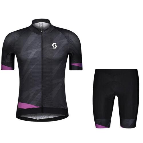 2021 team Mens Cycling Jerseys /& Shorts Set Bike jersey and shorts