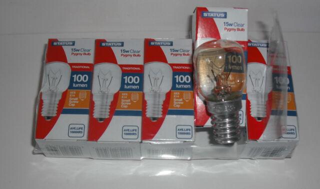 5 Fridge Freezer Edison Pygmy Small Screw Sewing Machine Lamp Bulb 15w SES E14