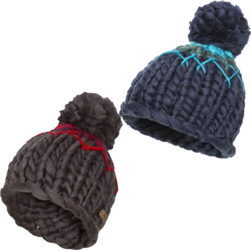 Trespass Womens//Ladies Sorcha Knitted Acrylic Pom Pom Beanie Hat