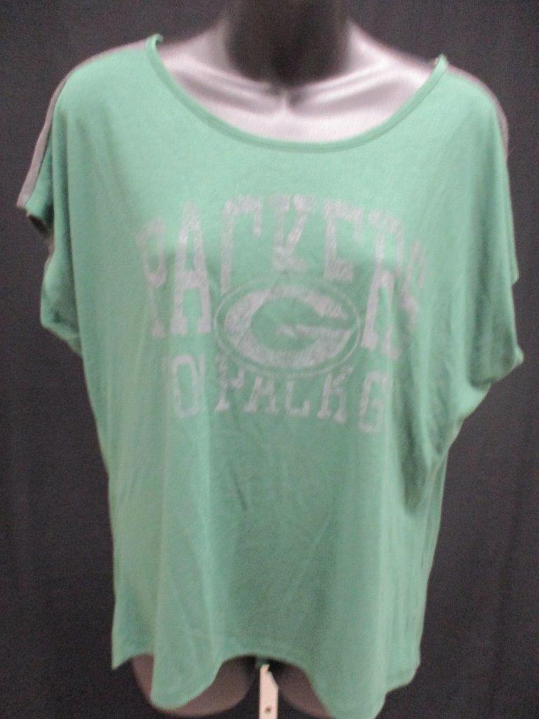 Nuevo Verden Bay Packers Mujer Talla Talla Talla L GRANDE Majestic Verde Camisa Msrp  increíbles descuentos