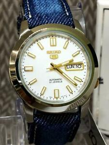 Seiko-Seiko-5-Day-Date-Stainless-Steel-21-Jewels-Automatic-Mens-Watch