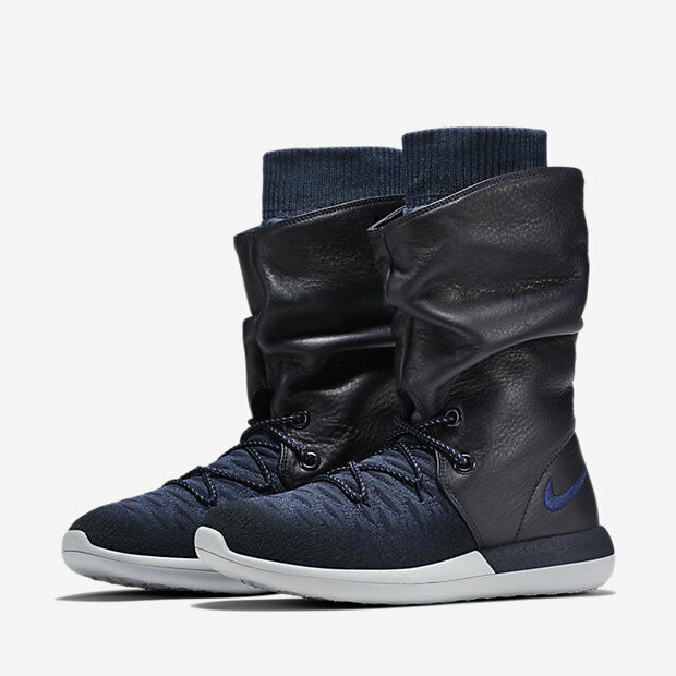 06ce452fd3b7e Womens Nike Roshe Two Hi Flyknit BOOTS Winter Size 3 EUR 36 Navy for ...