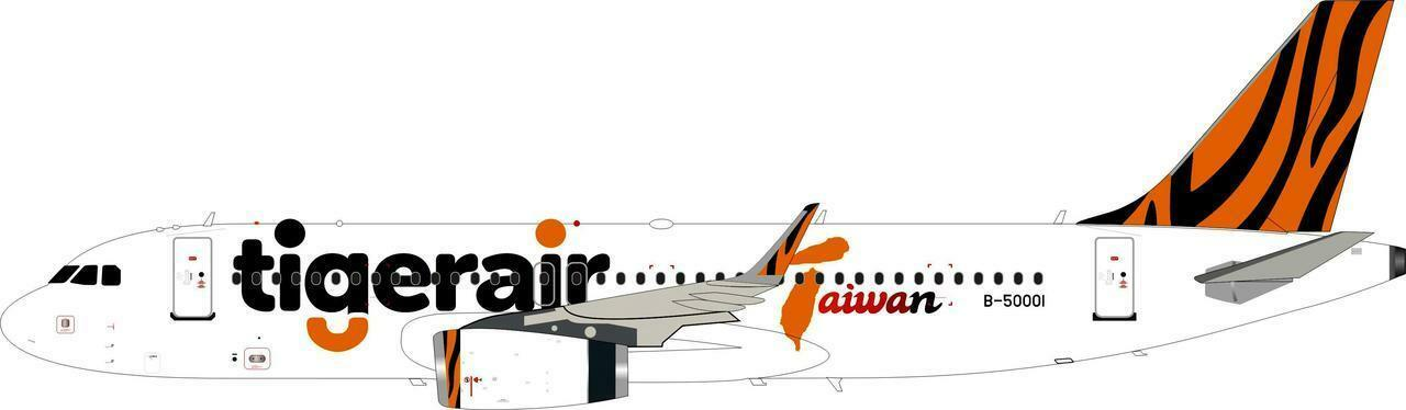 Inflight 200 IF320IT001 1 200 TIGERAIR Airbus A320-200 B-50001 avec support