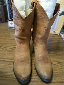 e7383eb95c7 Details about MEN'S Ariat SYLE # 34629 LIGHT Brown LEATHER Cowboy Boots  Size US 9 D