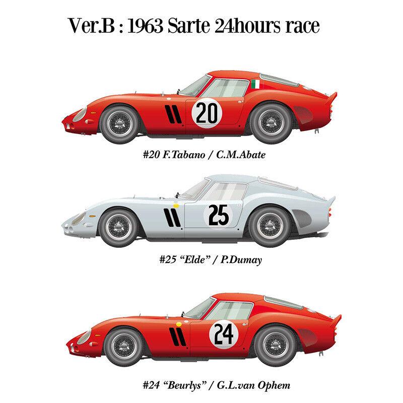 Modell k467 13.12 uhr  kamelhaar. ferrari 250 gto fabrik hiro 62 ver b 1963 sarthe 24h - rennen   24.