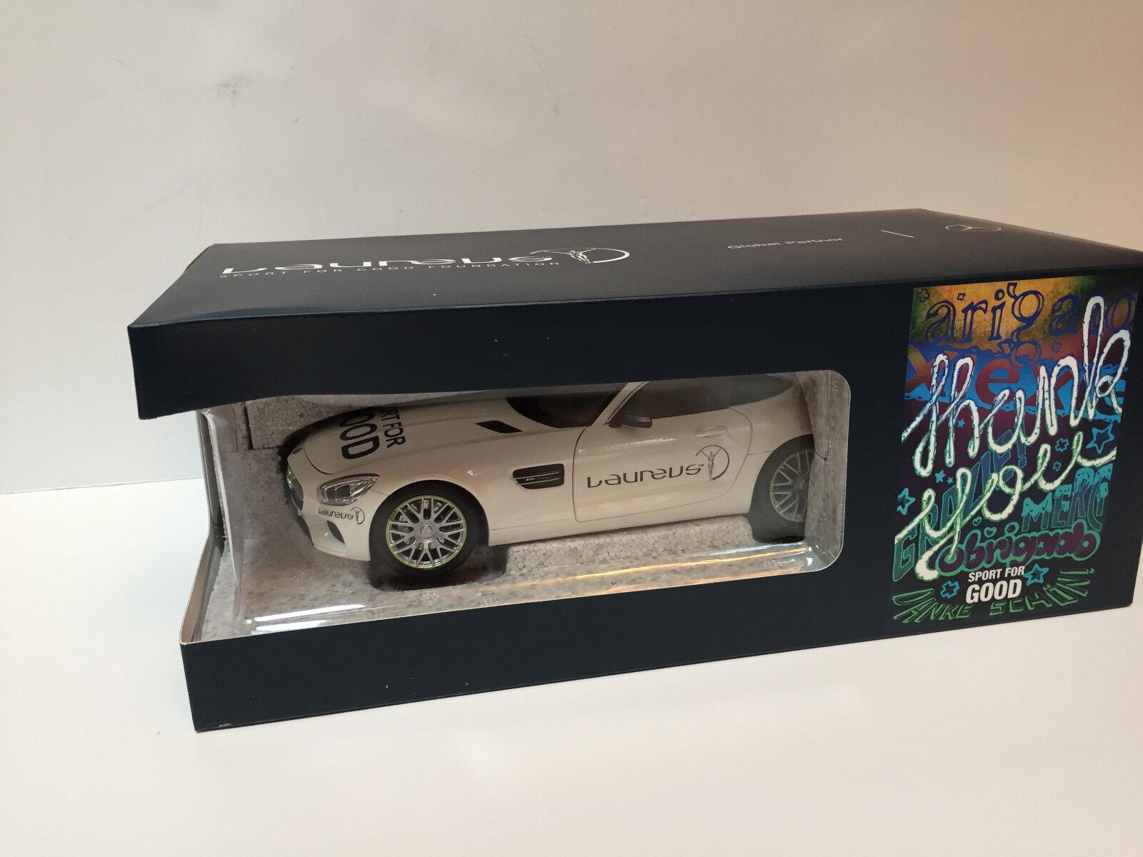 1 18  2016 Mercedes Benz AMG GT S C190 White Laureus  Dealer model    Norev