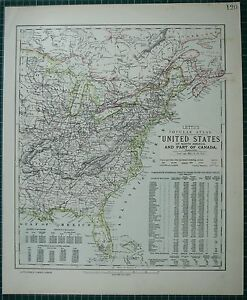 Florida And Georgia Map.1883 Letts Map United States Eastern Florida Georgia New York