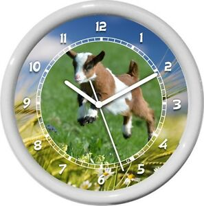 Goat Personalized Farm Animal Print Wall Clock Gift Ebay